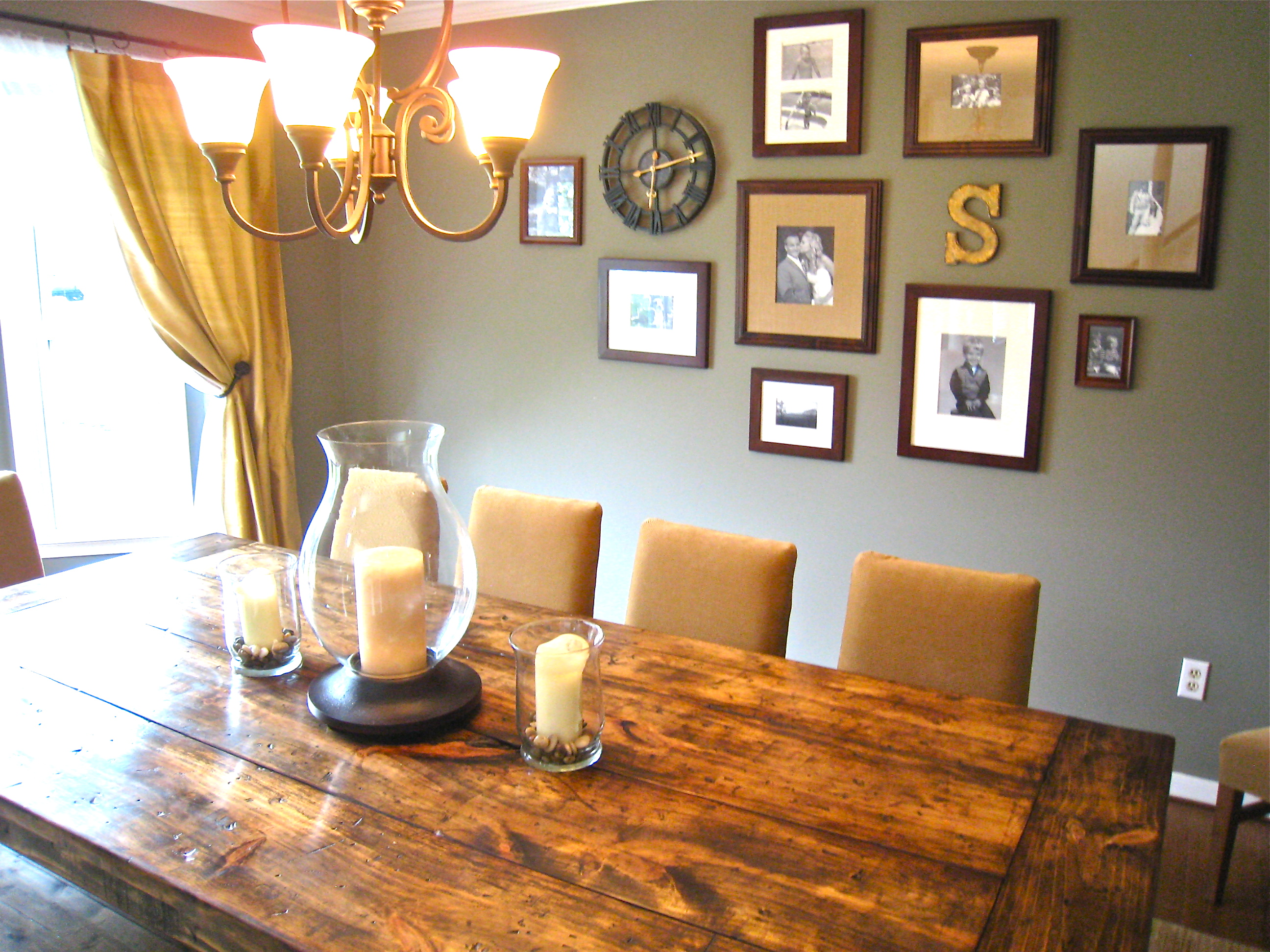 Dining Room With Tommy S Farmhouse Table And Our New Parsons