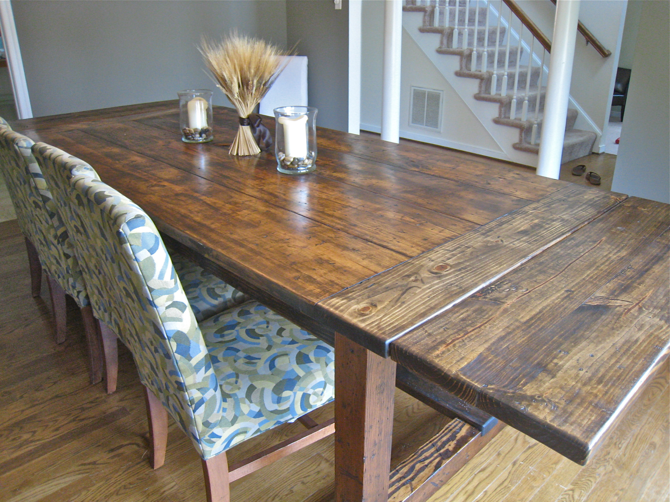 Dining Room Table Plans With Leaves Cool Farmhouse Table Details « Tommy & Ellie Inspiration