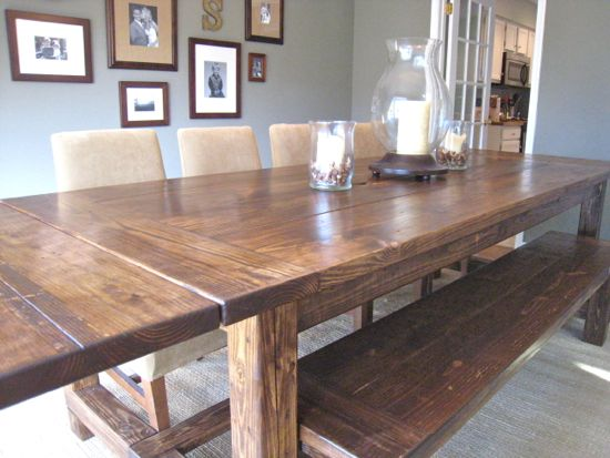 Brilliant DIY Farmhouse Kitchen Table 550 x 413 · 44 kB · jpeg