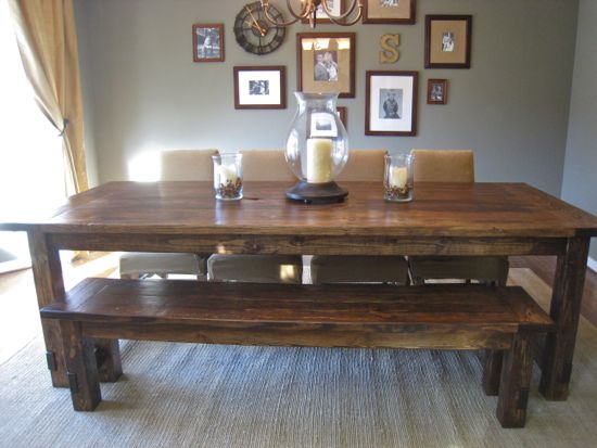 Woodworking Farmhouse Dining Room Table Plans PDF Free Download