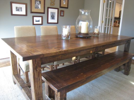 farmhouse table finished product wwwtommyandelliecom - Build Dining Room Table
