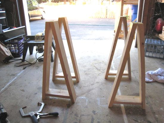 sawhorse table plans