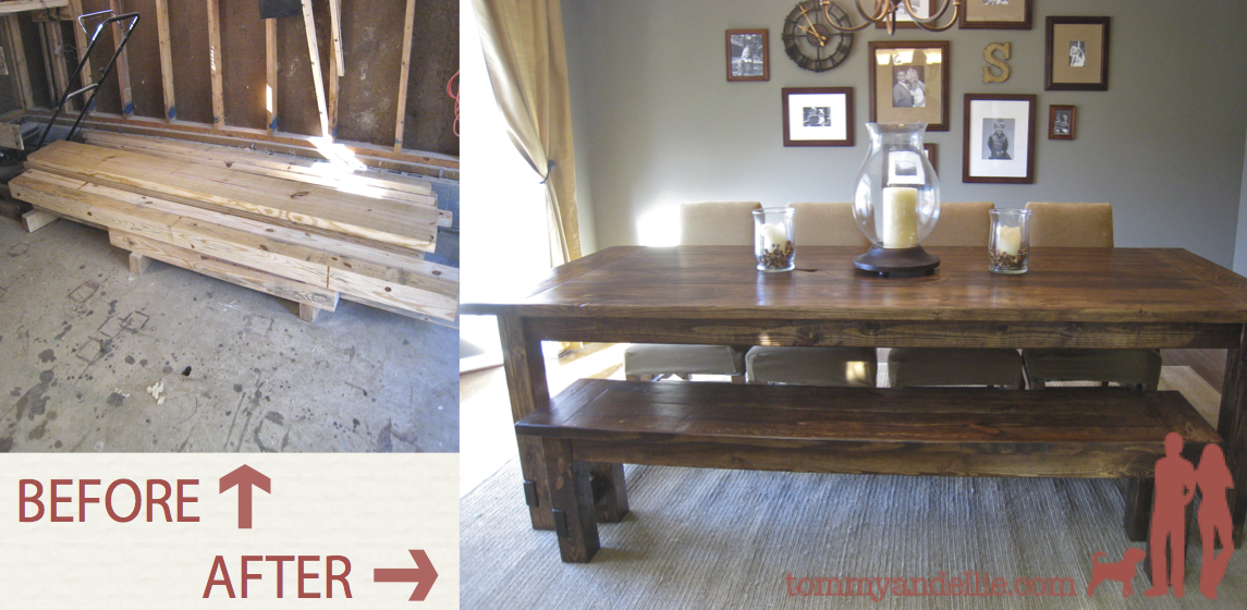 NEW AND IMPROVED Farmhouse Table Details Tommy Ellie
