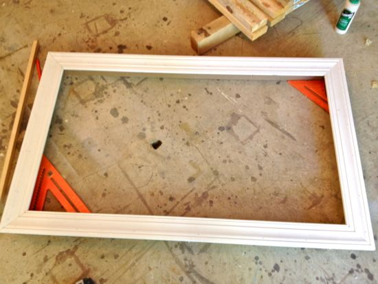MDF Box for TV Frame with All Trim Attached
