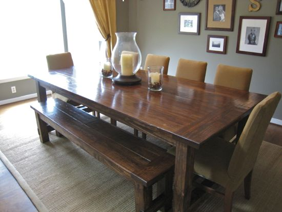 Farmhouse Table Finished