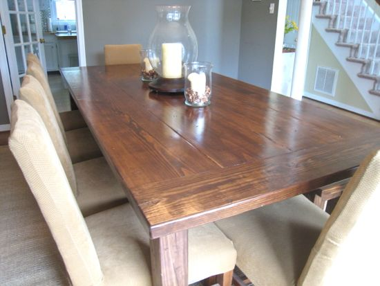 Farmhouse Table From Window Side- good lighting