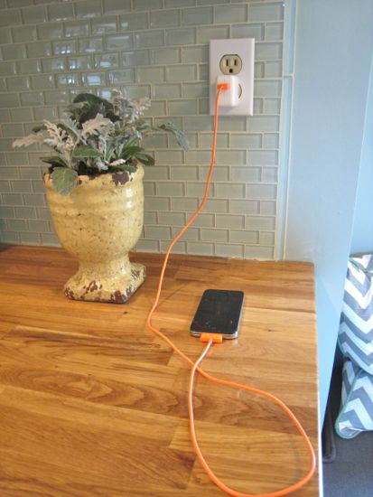 USB Power Outlet Before Shot With Charger