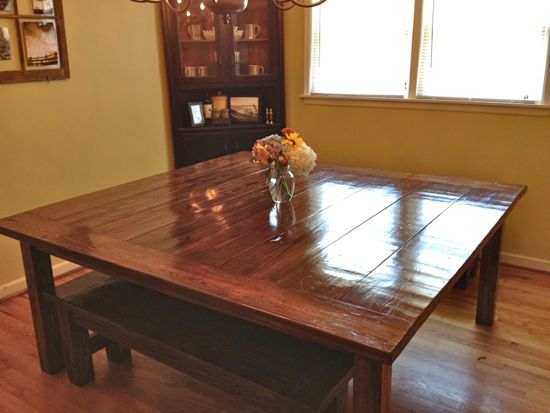 Massive 6 X6 Farmhouse Table Finished 171 Tommy Amp Ellie