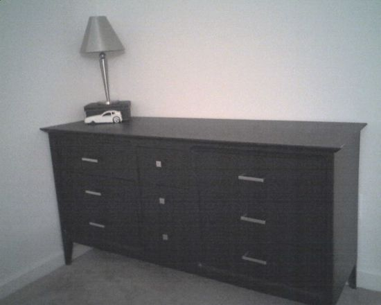 "Black dresser ""before"" shot. www.tommyandellie.com"