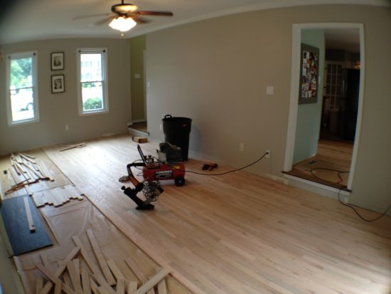 Installing Unfinished Hardwood Floors. www.tommyandellie.com