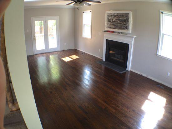 DIY Finished Red Oak Floors. Dark Walnut. www.tommyandellie.com