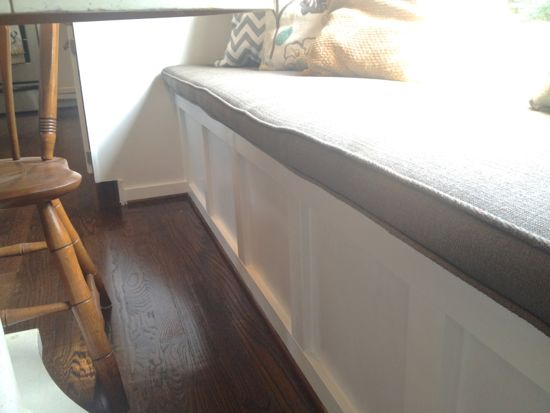 DIY Window Bench with Board and Batten. www.tommyandellie.com