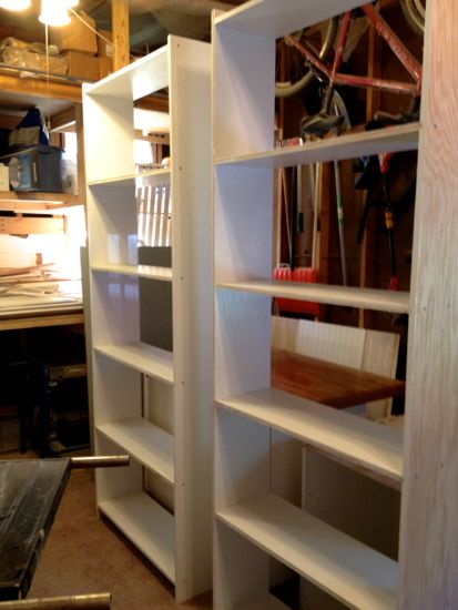 How to Build Built-In Bookcases. Assembled. www.tommyandellie.com