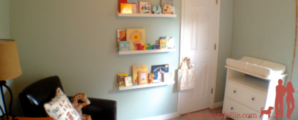 DIY Cheap and Easy Picture or Book Ledges. Nursery. www.tommyandellie.com