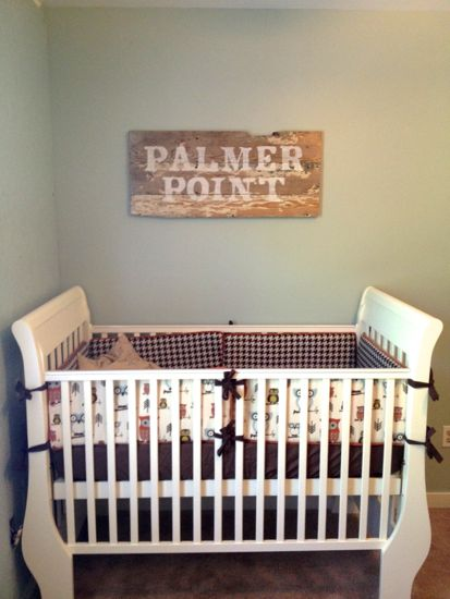Old Farm Bench Turned Into A Sign. www.tommyandellie.com