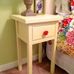 How to make a simple bedside table. www.tommyandellie.com