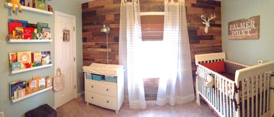Pallet Wall Nursery for Boys Room. www.tommyandellie.com