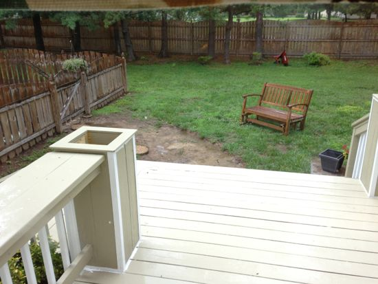 The deck as it now leads out into the yard