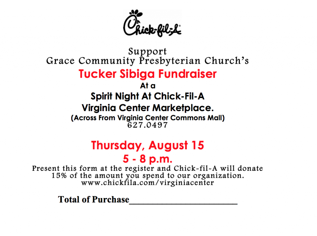 Voucher for Spirit Night on August 15th